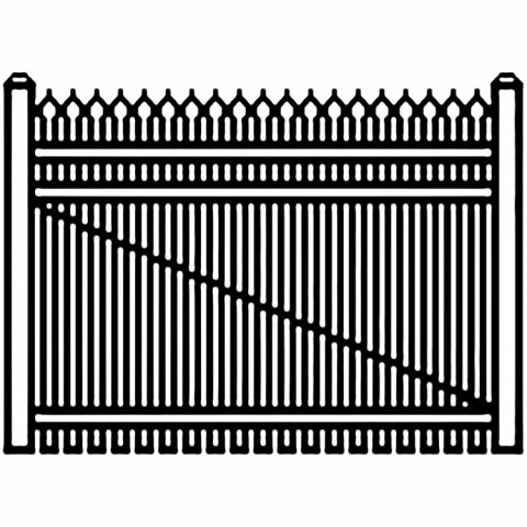 Jerith Industrial Aluminum Single Driveway Gate - Style #I401