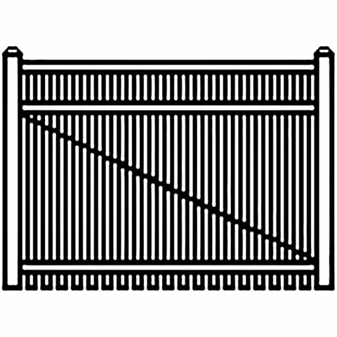 Jerith Industrial Aluminum Single Driveway Gate - Style #I402