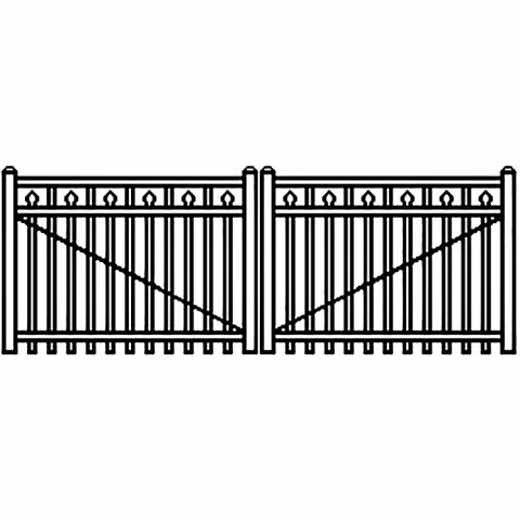 Jerith Industrial Aluminum Double Driveway Gate - Style #I200