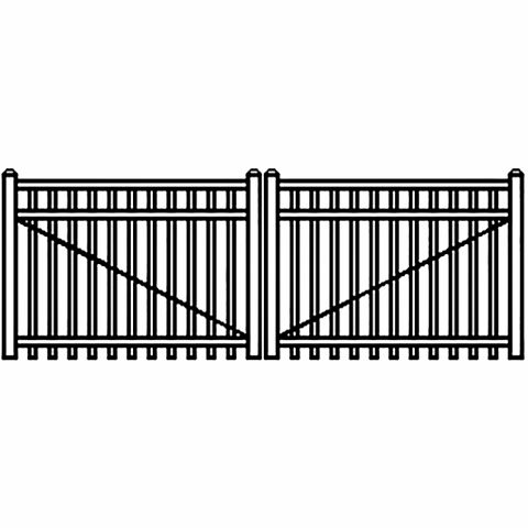Jerith Industrial Aluminum Double Driveway Gate - Style #I202