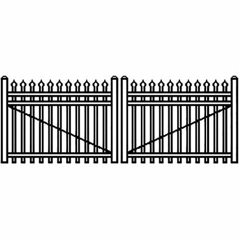 Jerith Industrial Aluminum Single Driveway Gate - Style #I101