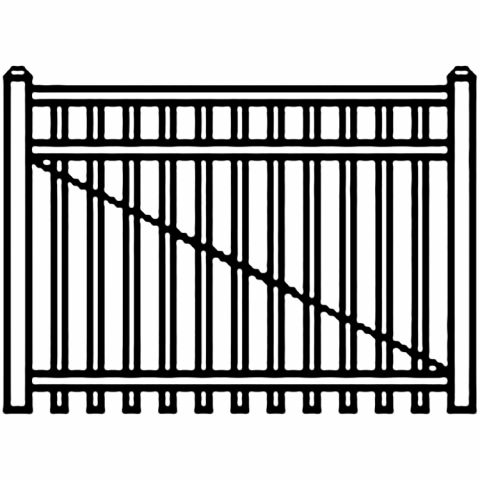 Jerith Industrial Aluminum Single Driveway Gate - Style #I202