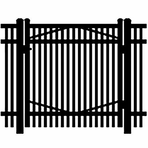 Jerith Industrial #I402 Aluminum Single Swing Gate