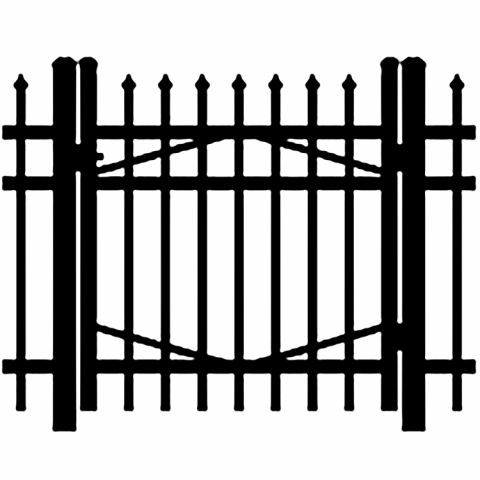 Jerith Industrial #I101 Aluminum Single Swing Gate