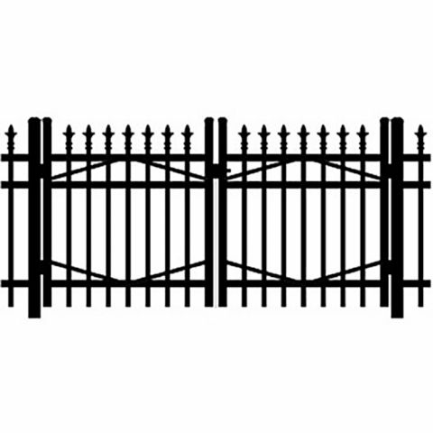 Jerith Industrial #I111 Aluminum Double Swing Gate w/Finials
