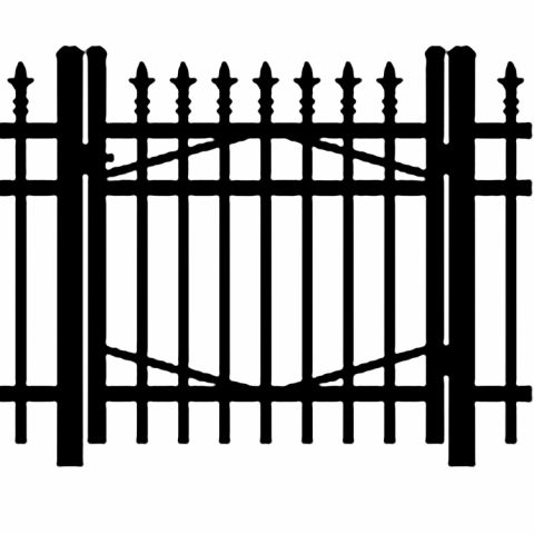Jerith Industrial #I111 Aluminum Single Swing Gate w/Finials