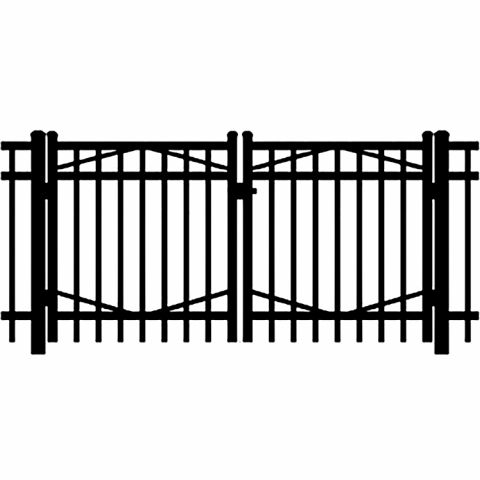 Jerith Industrial #I202 Aluminum Double Swing Gate