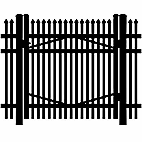 Jerith Industrial #I401 Aluminum Single Swing Gate