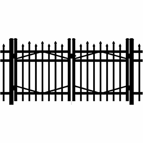Jerith Industrial #I100 Aluminum Double Swing Gate