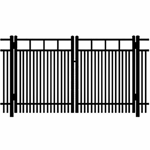Ideal Carolina #403D Aluminum Double Swing Gate - Double Picket