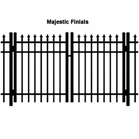 Ideal Finials #600 Aluminum Double Swing Gate - Standard