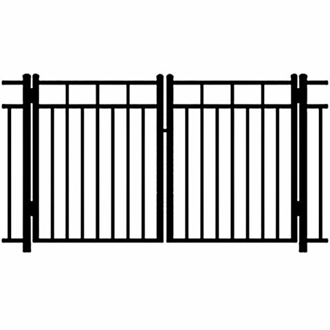 Ideal Carolina #403M Aluminum Double Swing Gate - Modified