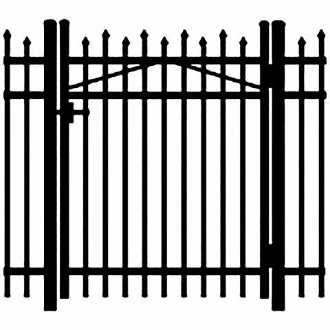 Jerith Legacy #100 Aluminum Single Swing Gate