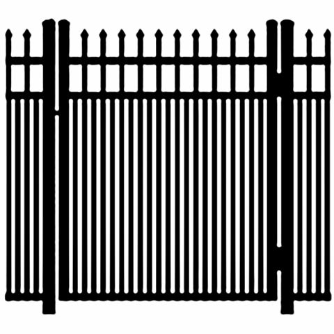 Ideal Maine #203MD Aluminum Single Swing Gate - Modified Double Picket