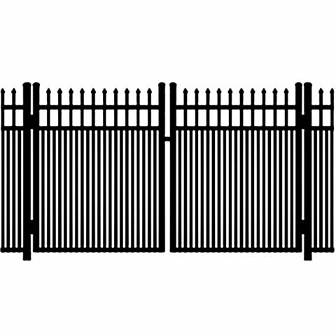 Ideal Maine #203MD Aluminum Double Swing Gate - Modified Double Picket