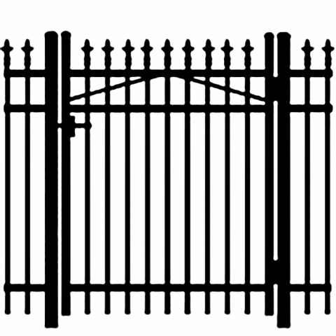 Jerith Legacy #111 Aluminum Single Swing Gate w/Finials