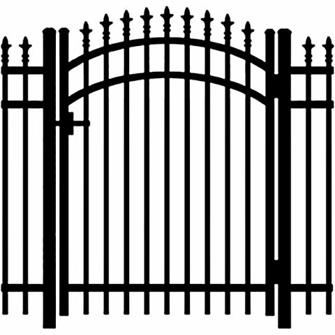 Jerith Legacy #111 Aluminum Accent Gate w/Finials