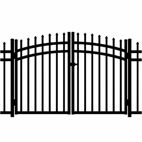 Jerith Buckingham Aluminum Rainbow Double Gate