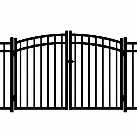 Jerith Windsor Aluminum Rainbow Double Gate