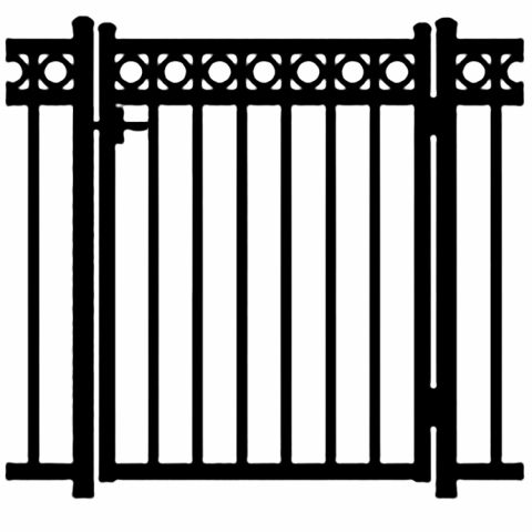 Jerith Windsor Plus Rings Aluminum Single Swing Gate