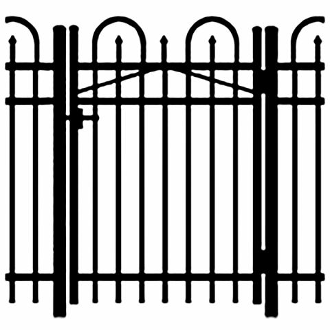 Jerith Legacy Concord #101 Aluminum Single Swing Gate