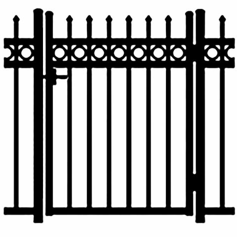 Jerith Buckingham Plus Rings Aluminum Single Swing Gate