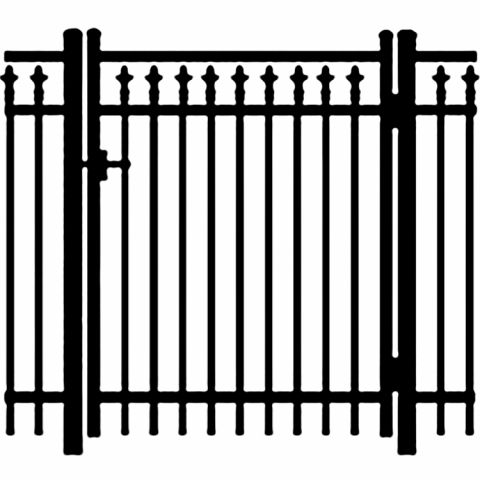 Jerith Legacy #211 Aluminum Single Swing Gate w/Finials
