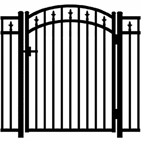 Jerith Legacy #211 Modified Aluminum Accent Gate w/Finials