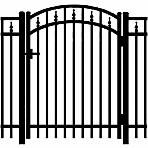 Jerith Legacy #211 Aluminum Accent Gate w/Finials