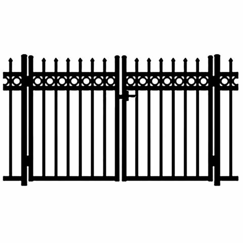 Jerith Buckingham Plus Rings Aluminum Double Swing Gate