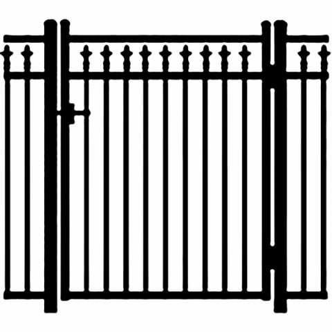 Jerith Legacy #211 Modified Aluminum Single Swing Gate w/Finials