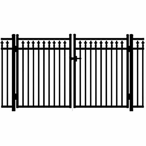 Jerith Legacy #211 Modified Aluminum Double Swing Gate w/Finials