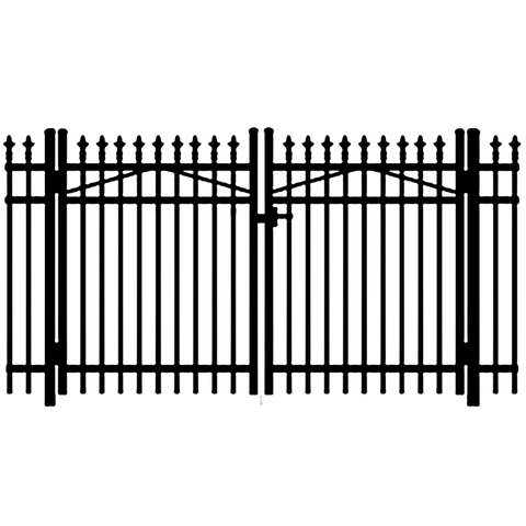 Jerith Premier #111 Aluminum Double Swing Gate w/Finials