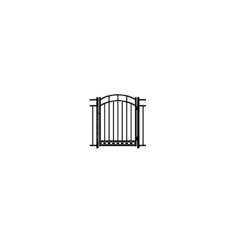 Ideal Carolina #4035 Aluminum Arched Walk Gate - Bottom Rings