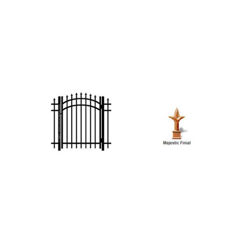 Ideal Finials #6003 Aluminum Arched Walk Gate
