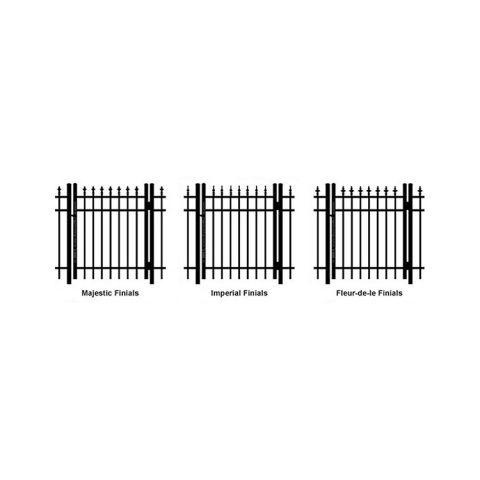 Ideal Finials #600 Aluminum Single Swing Gate - Standard