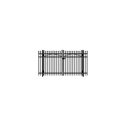 Jerith #111 w/Finials Aluminum Double Swing Gate