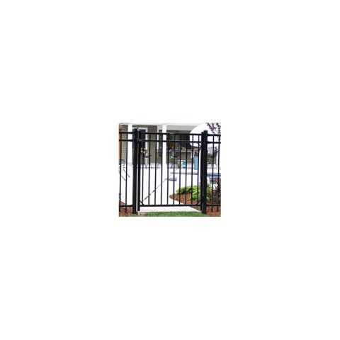 Ameristar Montage Majestic Steel Single Gate, 3-Rail, Flush Bottom