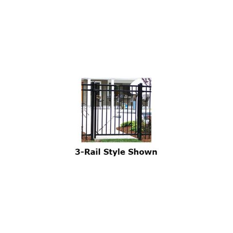 Ameristar Montage Majestic Steel Single Gate, 2-Rail, Flush Bottom