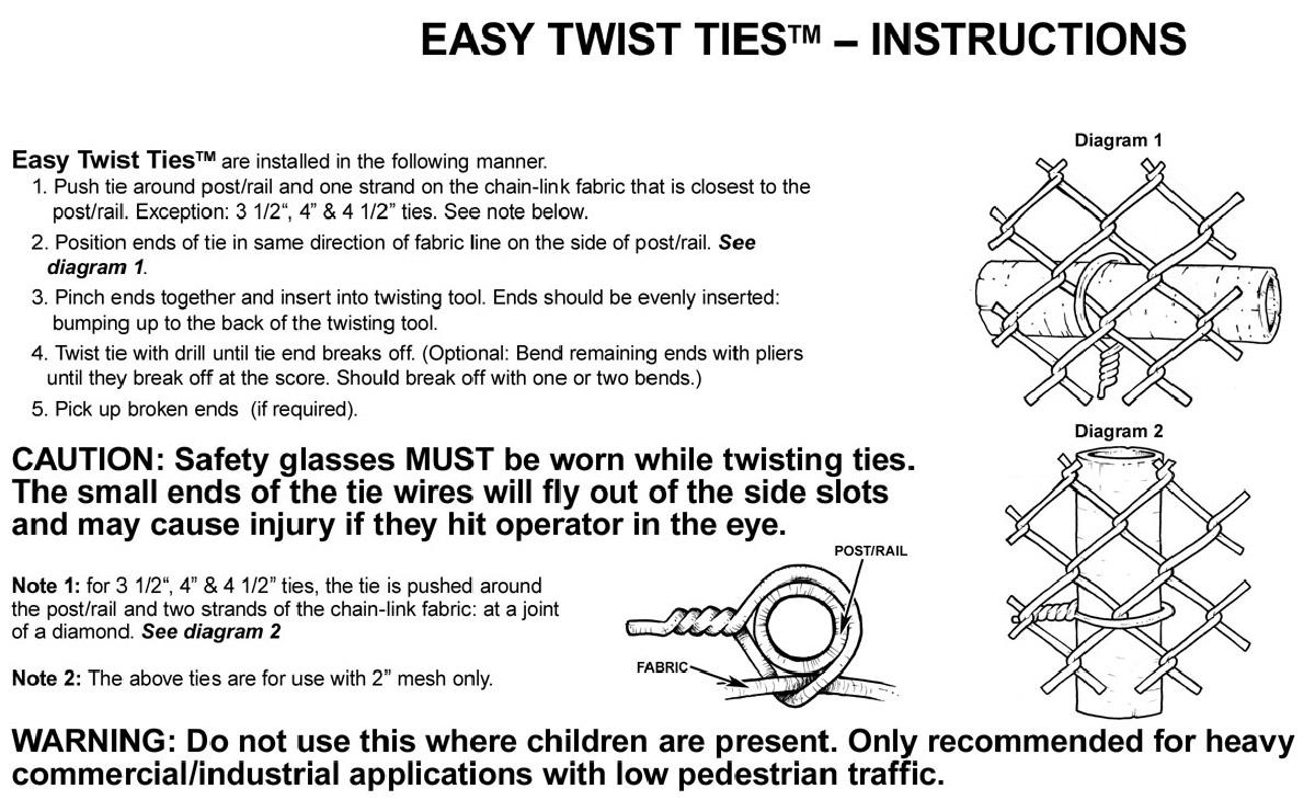 Easy Twist Preformed Steel Tie Wires Black Brown And